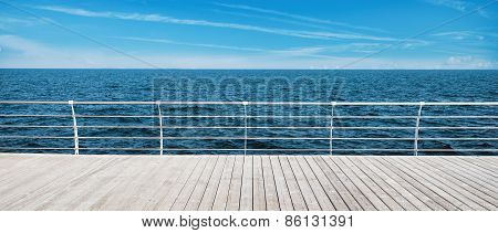 wooden pier and sea view
