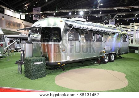 BANGKOK - MARCH 25: Airstream Classic car on display at The 36 th Bangkok International Motor Show o