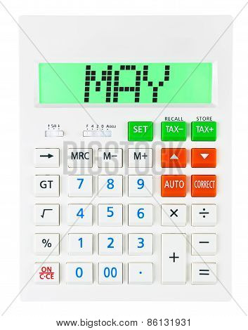 Calculator With May