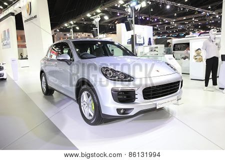 BANGKOK - MARCH 25: Porsche Cayenne Hybrid car on display at The 36 th Bangkok International Motor S