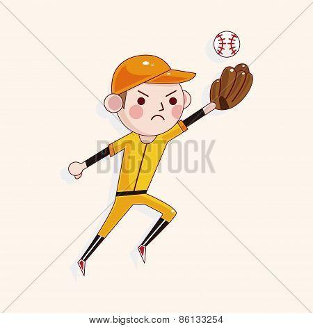 Baseball Player Theme Elements