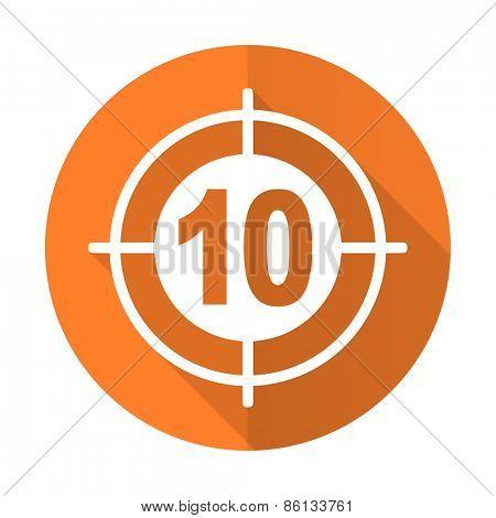 target orange flat icon