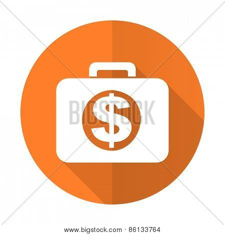 financial orange flat icon