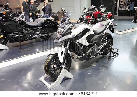 BANGKOK - MARCH 25: Honda NC 750 motorcycle on display at The 36 th Bangkok International Motor Show