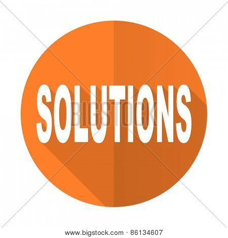 solutions orange flat icon