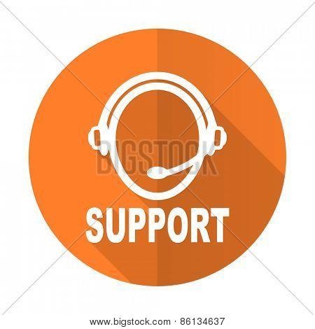 support orange flat icon
