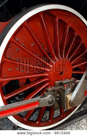 Driving Wheel of a Steam Engine Locomotive