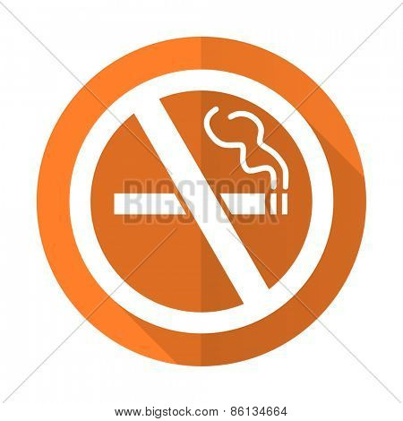 no smoking orange flat icon