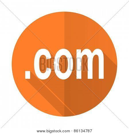 com orange flat icon