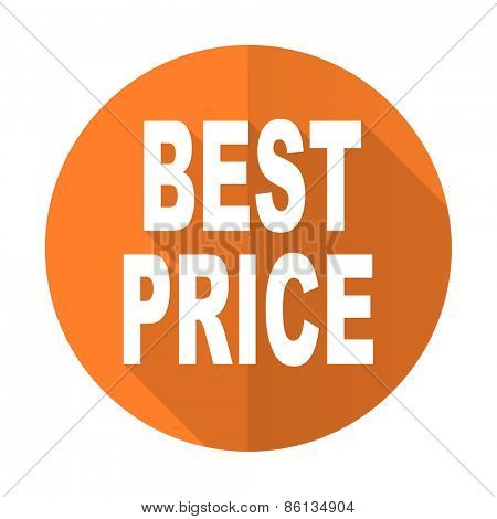 best price orange flat icon