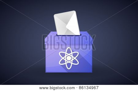 Ballot Box With A Vote And An Atom
