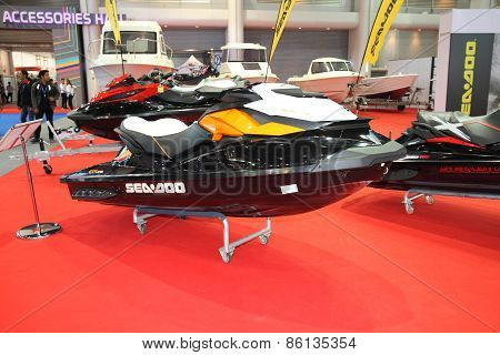 BANGKOK - MARCH 25: Seadoo Jetski on display at The 36 th Bangkok International Motor Show on March
