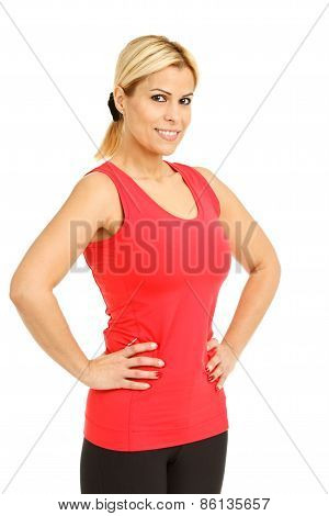 Sporty Girl Posing