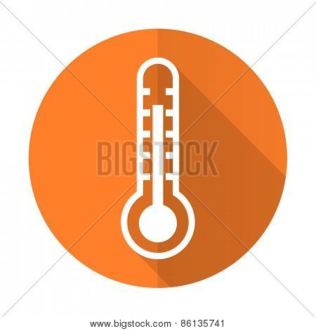 thermometer orange flat icon temperature sign