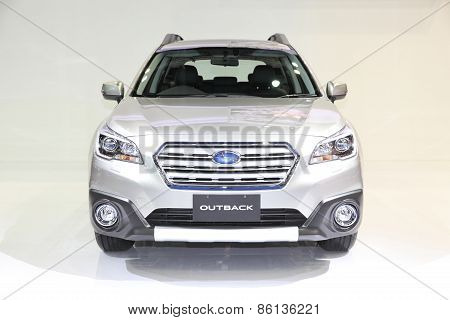 Bangkok - March 24: Subaru Outback Car On Display At The 36 Th Bangkok International Motor Show On M