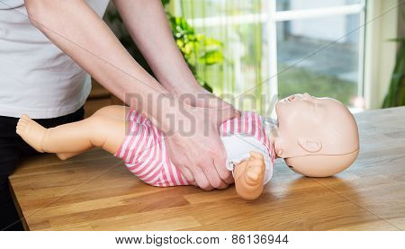 Baby Cpr Two Hand Compression