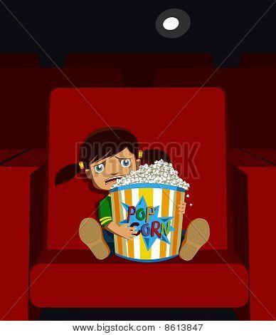 Girl in a cinema