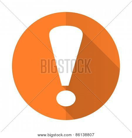 exclamation sign orange flat icon warning sign