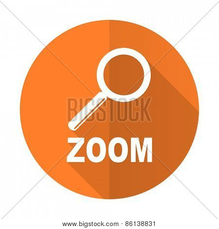 zoom orange flat icon
