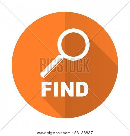 find orange flat icon