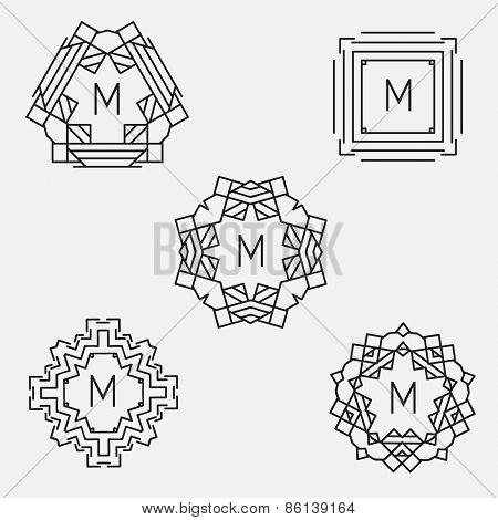 Monogram design template.