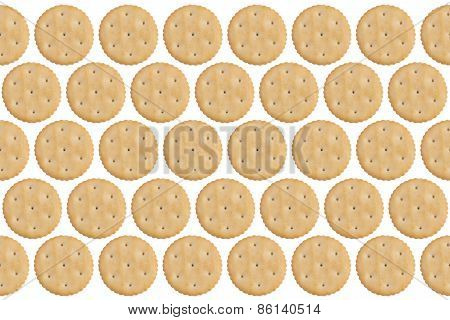 Round Crackers Isolated On White