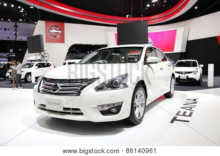 BANGKOK - MARCH 25: Nissan TEANA car on display at The 36 th Bangkok International Motor Show on Mar