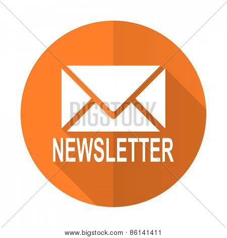 newsletter orange flat icon