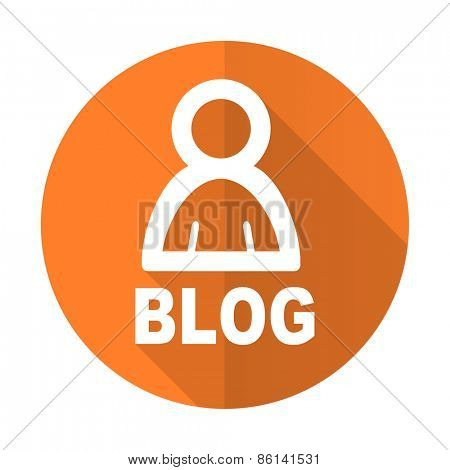 blog orange flat icon