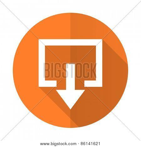 exit orange flat icon
