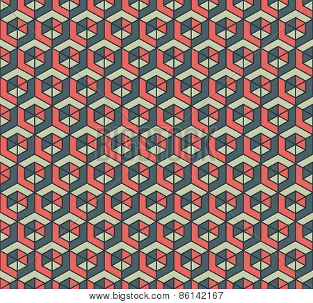 Color cubes pattern