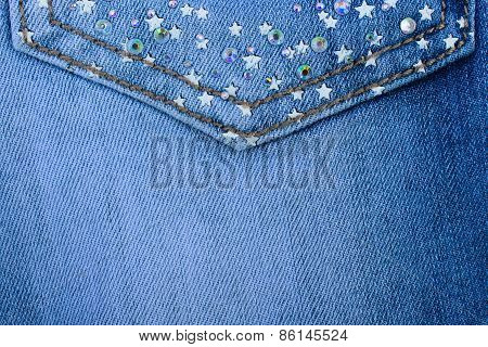 Background jeans material