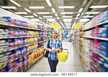 Women Shopping In Supermarket