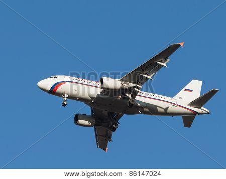 Passenger Airplane Airbus A319, The Airline Russia