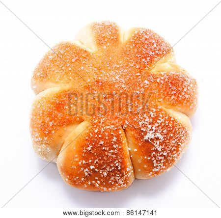 Sweet Roll Bun Isolated On A White