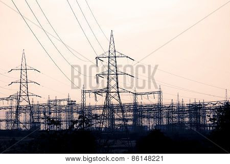 Electricity Substation, High Voltage Transformer