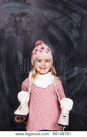 Skates And Girl