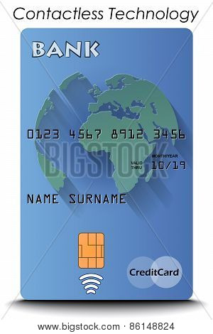 Credit Card with Contactless Technology