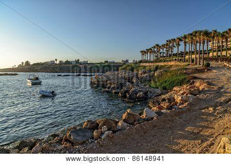 Sea Bay And Resort Area On Coast