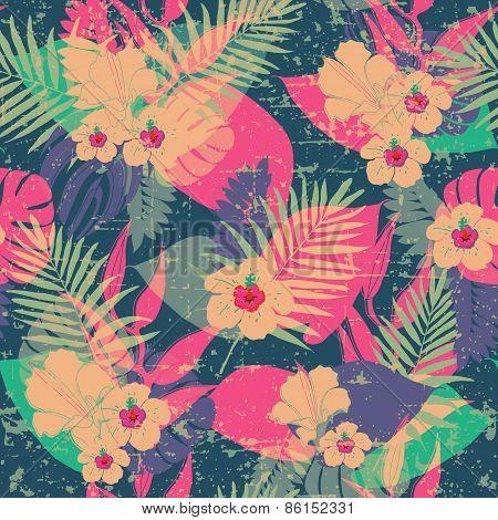 Exotic tropical pattern.