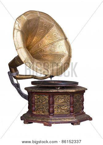 Old Retro Gramophone.