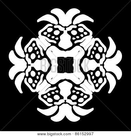 Abstract ornament, stencil pattern, cut out design, decor element, vector illustration