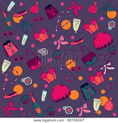 Accessories seamless pattern