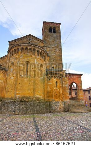 Collegiate Church of Castellarquato. Emilia Romagna. Italy.