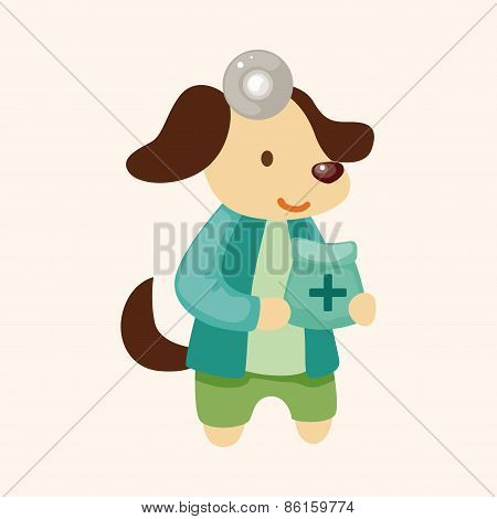 Animal Dog Doctor Cartoon Theme Elements