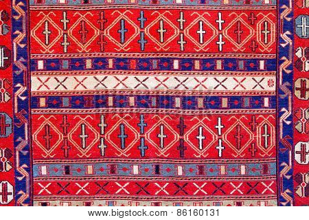 Ornament Turkish Pattern Rug Background