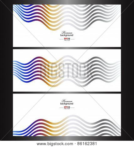 Abstract technology banner templates