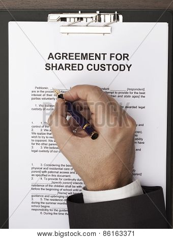 Agreement of shared custody
