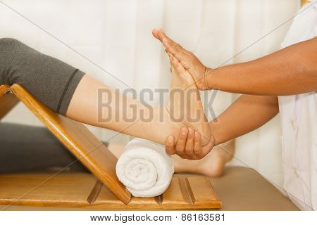 Doctor Examining Injury Foot