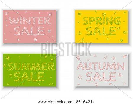 Seasonal Sale Flyers, Posters